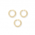 14K Gold filled jumprings open 2.8 x 0.6 mm x10