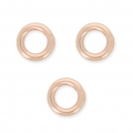 14K RoseGold filled jumprings 4 x 0.7 mm x10