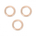 14K Rose Gold filled closed jumprings 5 x 0.7 mm x10