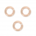 14K Rose Gold filled jumprings open 4 x 0.7 mm  x10