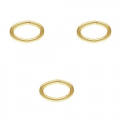 14K Gold filled oval jumprings open 5.3x3.5x0.6 mm  x10