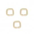 14K Gold filled square jumprings open 4 x 0.7 mm  x5