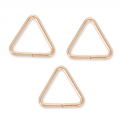 14K Rose Gold filled Trianglular jumprings open 7.6 x 0.7 mm x5
