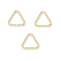 14K Gold filled Triangular jumprings open 5 x 0.6 mm  x10