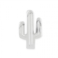 925 Sterling Silver charm cactus 8 x 14 mm  x1