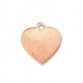 Copper charm base for enamel Powder Efcolor 16x15 mm heart x1