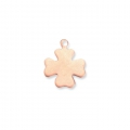 Copper charm base for enamel Powder Efcolor 18x15 mm clover x1