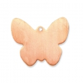 Copper pendant base for enamel Powder Efcolor 26x30mm butterfly x1