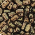 Rullas Duet 3x5 mm Two-tone Black/GoldLuster x10g