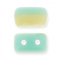 Rullas Duet 3x5 mm Two-tone Green Turquoise/Ivory Pearl Ceylon x10g