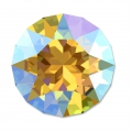 Swarovski 1088 Round Stone 6 mm Light Topaz Shimmer x1