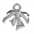 Metal Bow for Swarovski beads 5818/5810/5028/5003 10 mm rhodium