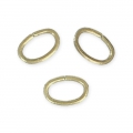Jumprings open oval 3.5x2.5x0.4mm Bronze tone x50