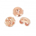 925 Sterling Silver drops earstuds 13.5 mm - Rose Gold Tone x 2