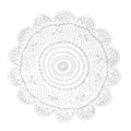 Doily lace placemat 30 cm White x1