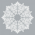 Decorative stencil Home deco XL 45.7 x 45.7 cm Mandalas flowers