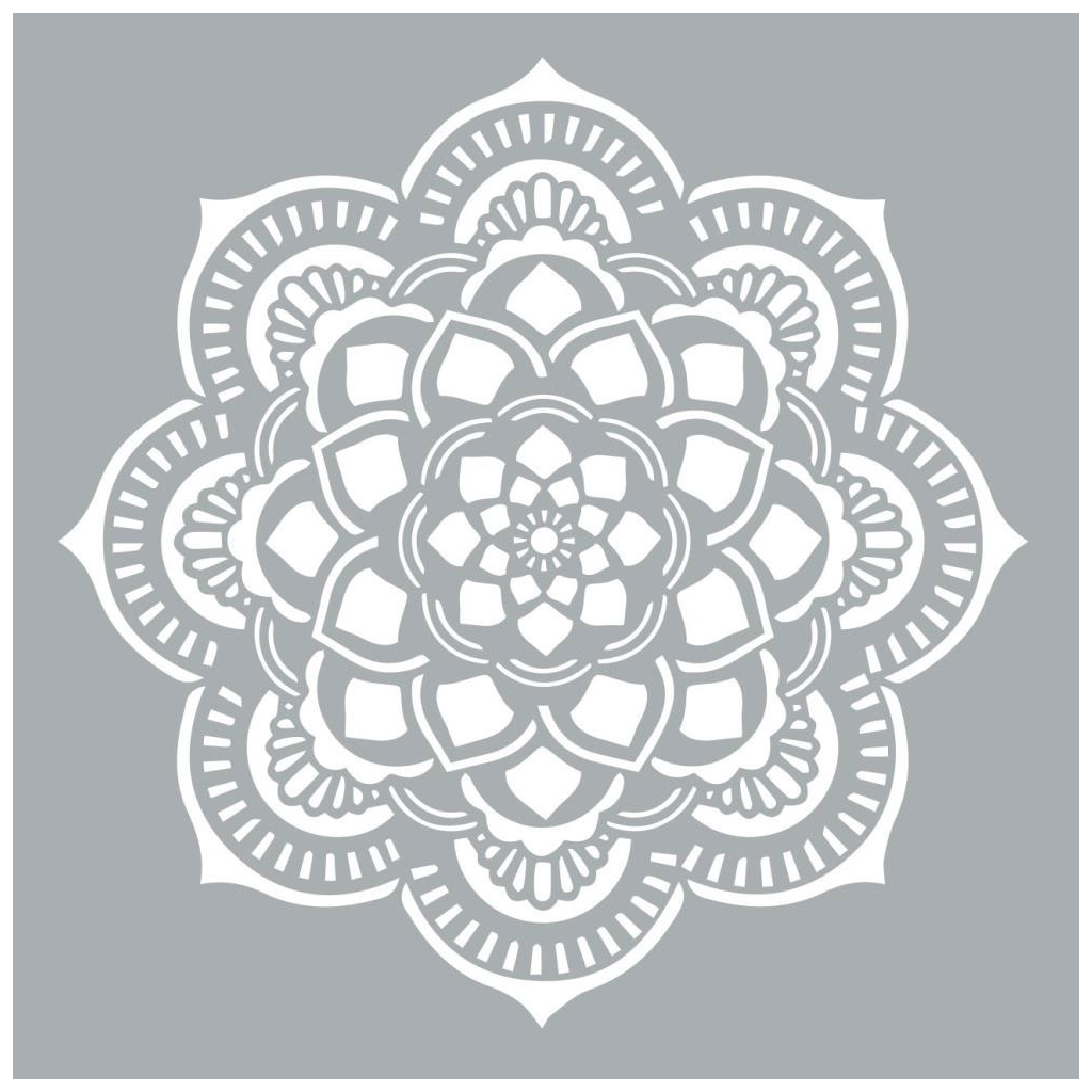 Decorative stencil Home deco XL 45.7 x 45.7 cm Mandalas Rosace - D ...