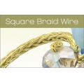 Brass Artistic Wire Braid square 1.6mm Natural x 0.76 m