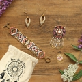 Kit for Miyuki Odd Peyote weaving and brick stitch jewels - Dreamcatcher INSTRUCTIONS IN FRENCH