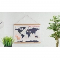 Cross stitch world map Luckies London 59,4x45 cm Cross stitch Map