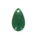 Metal epoxy resin sequins drop shape 14x8 mm Forest Green x 8