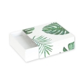Gift box fancy jewel case 9,3x9,3x3 cm Jungle Philodendron leaf