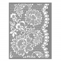 Silk Screen Graine Creative for Polymer Clay 114x153mm- Lace pattern