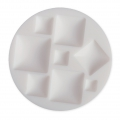 Mini silicone mold for polymer clay and metal paste - Square Cabochons