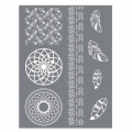 Silk Screen Graine Creative for Polymer Clay 114x153mm- Dream-catcher pattern