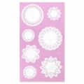 Sheet of 14 Customizable lace stickers - Star/Round