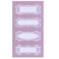Sheet of 8 Customizable lace stickers - Rectangle