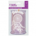 Repositionnable sticker effect engraving - Dream-catcher