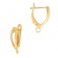 Leverback earrings design shape 18 mm Gold Tone x2