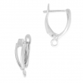 Leverback earrings design shape 18 mm Old Silver Tone x2