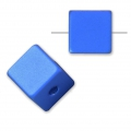 Bead cube shape in anodized aluminum 8 mm Blue x1