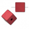 Bead cube shape in anodized aluminum 8 mm Ruby x1