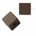 Bead cube shape in anodized aluminum 8 mm Brown x1