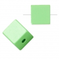 Bead cube shape in anodized aluminum 8 mm Light Green x1
