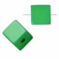 Bead cube shape in anodized aluminum 8 mm Green x1