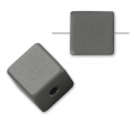 Bead cube shape in anodized aluminum 8 mm Grey x1