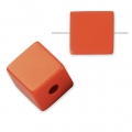Bead cube shape in anodized aluminum 8 mm Copper x1