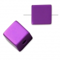 Bead cube shape in anodized aluminum 8 mm Amethyst x1