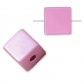 Bead cube shape in anodized aluminum 8 mm Light Pink x1