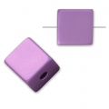 Bead cube shape in anodized aluminum 8 mm Light Amethyst x1