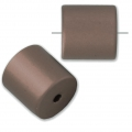 Bead cylinder shape in anodized aluminum 10 mm Brown x1