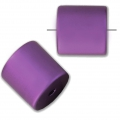 Bead cylinder shape in anodized aluminum 10 mm Amethyst x1