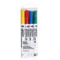 LACKSTIFT - 4 Ink Markers 1.2 mm - Paper Poetry - Yellow/Red/Blue/Green