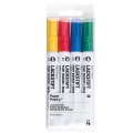 LACKSTIFT - 4 Ink Markers 2 mm - Paper Poetry - Yellow/Red/Blue/Green