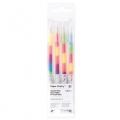 4 Gel Pens Paper Poetry 0.8 mm - Rainbow Neon