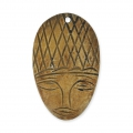 Horn ethnic pendant african mask 49 x 29 mm x 1